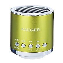 Kingzer Mini enceinte Lecteur MP3/Micro SD/TF son amplificateur Audio Vert