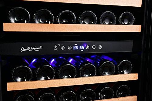 166 Bottle Wine Cooler, RW428DRG, Dual Zone, Smoked Glass Door by Smith & Hanks (Image #4)