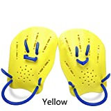 JaneDream 1Pair Adult Kids Swimming Webbed Silica Gel Diving Gloves Adjustable Swimming Paddle