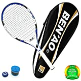 OPPUM Adult Full-Carbon /Aluminum-Carbon Tennis Racket Optional, Full-Carbon Fiber Tennis Racquet Super Light Weight Shock-proof and Throw-proof, Include Tennis Bag Tennis Overgrip Vibration Dampener