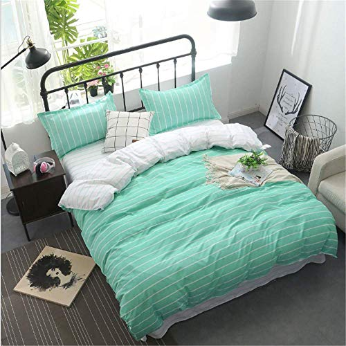 Floral Bed Linen Sheets Egyptian Cotton Bedding Sets Duvet Cover Flower Print Newest Queen King Bedspreads Green 150x200cm -