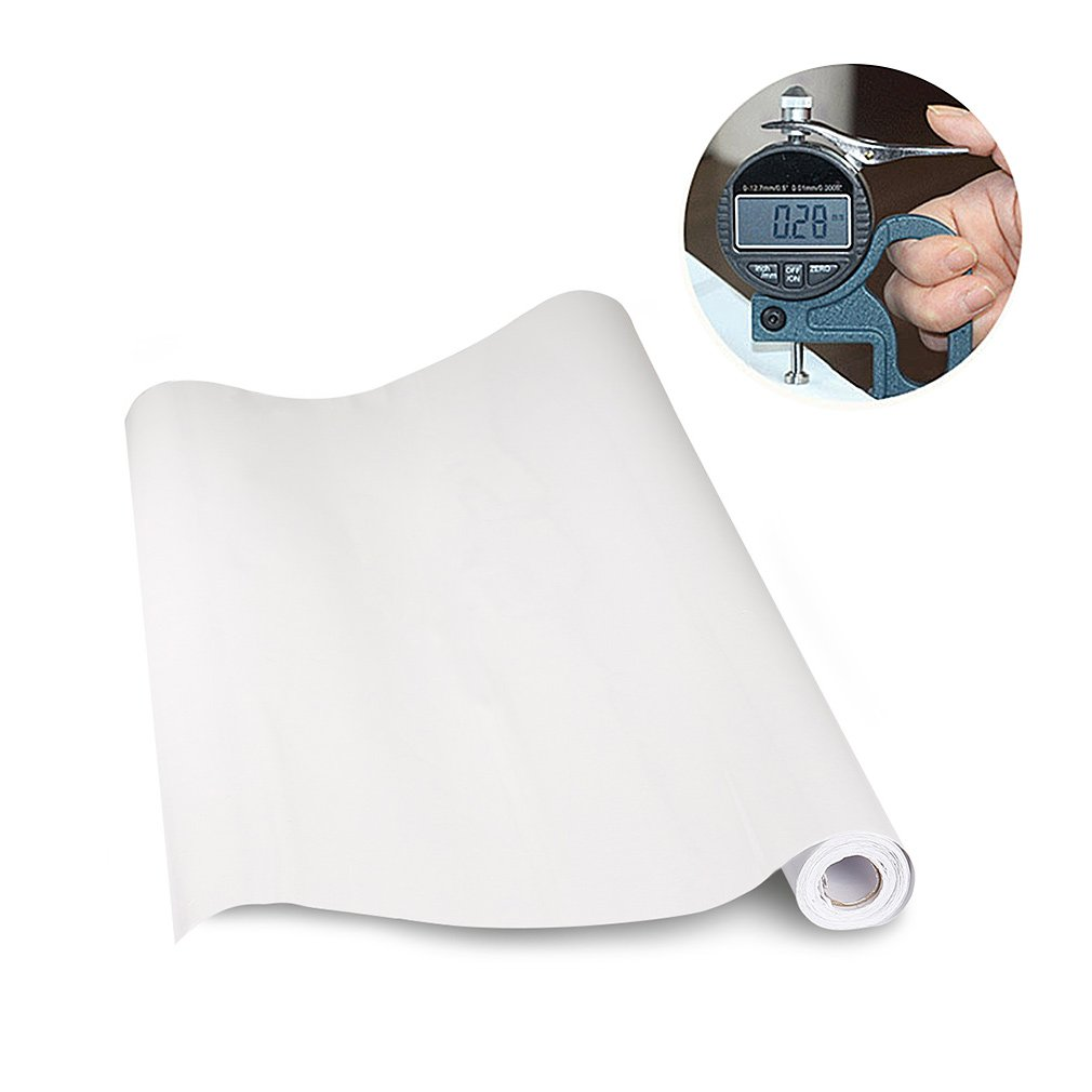 KINLO Elegant Selbstklebend Möbelfolie PVC 0.61x5M Weiß Küchenfolie ...