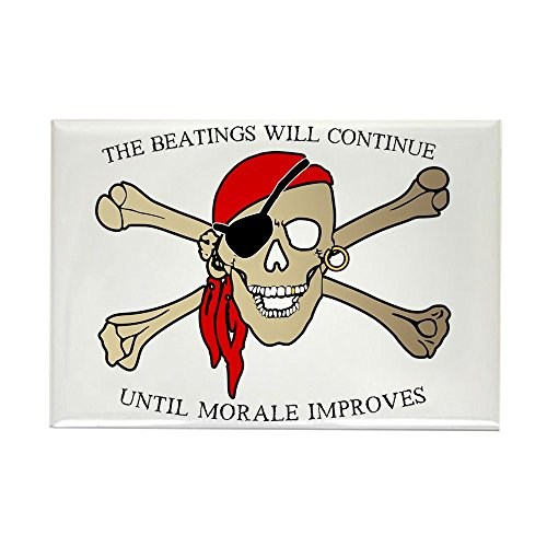 (Rectangle Magnet Pirate Beatings Will Continue Morale)