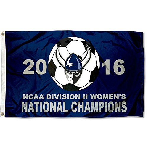 Western Washington Vikings 2016 Division II Womens Soccer Champions Flag by College Flags and Banners Co.