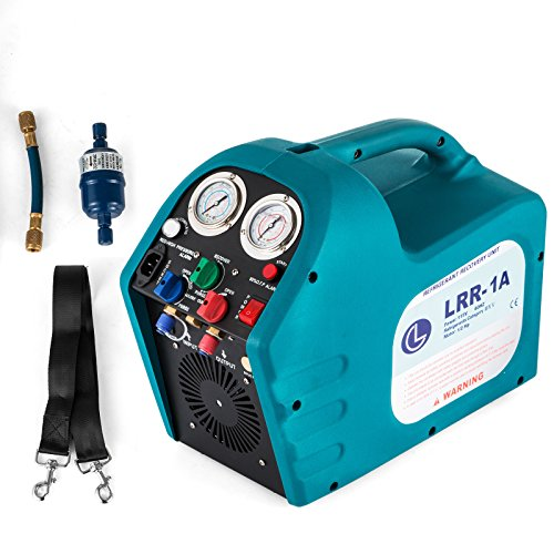 Recovery Machine - DreamJoy 1/2HP Refrigerant Recovery Machine Portable 115V AC Refrigerant Recycling Machine Automotive HVAC 558psi Refrigerant Recovery Unit Air Conditioning Repair Tool (115V)