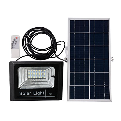 Solar Flood Light ZBFLighting 42LED Outdoor Solar Lights with Waterproof IP67 Smart Remote Solar Spotlight for Home Garden Yard Lawn Pool