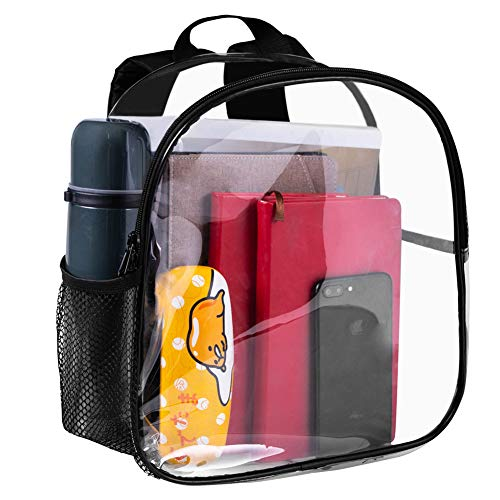 Clear Mini Backpack Heavy Duty Clear Backpack Clear Bookbags Durable See Through Backpacks for...
