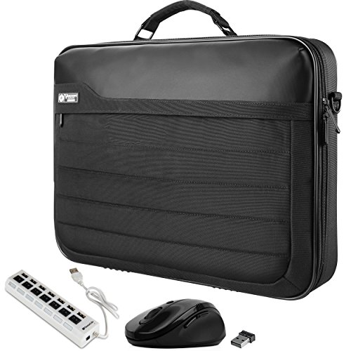 VanGoddy Trovo Professional Laptop Briefcase Bag with USB Hub & Mouse Suitable for Apple iPad Pro 10.5''/ 12.9'', MacBook 12, MacBook Air 11.6'', MacBook Pro 2018 13.3-inch by Vangoddy
