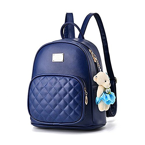 Leather Backpack Purse Satchel School Bags Casual Travel Daypacks for Womens by BAG WIZARD