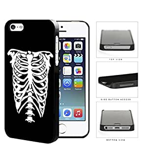 Rib Cage Skeleton Black And White Hard Plastic Snap On Cell Phone Case Apple iPhone 5 5s