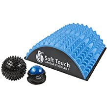 Back Pain Relief   Sciatica Pain Relief   Spinal Stenosis Pain Relief   Extra Firm Lower Back Stretcher   Neck Pain. BONUS! Two Massage Balls Included for back pain! (Blue, EVA Foam)
