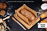 Kitchen Seven Bamboo Bread Slicer with Crumb Tray