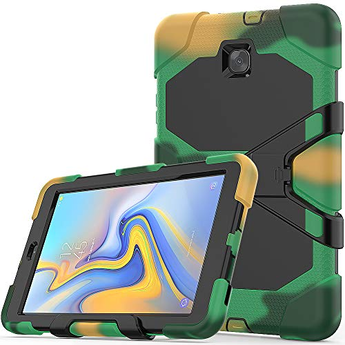 (Galaxy Tab A 8.0 2018 Case, Hybrid Three Layer Heavy Duty Armor Defender Shockproof Protective Cover with Built-in Screen Protector & Kickstand for Samsung Galaxy Tab A 8.0 2018 SM-T387 - Camouflage)
