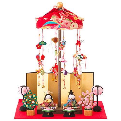 FUN fun Japanese Kimono Dolls Hina Ningyo Set Small Traditional Figurines Compact Warabe