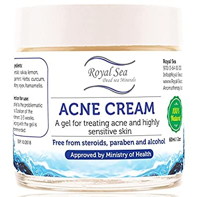 Dead Sea Natural Anti Acne Removal Cream [2oz] Treatment for Pimple and Spot on the Face Healing Face Skin for Oily, DRY and Sensitive face facial Skin for Men, Women, Baby and Kids Cleanser