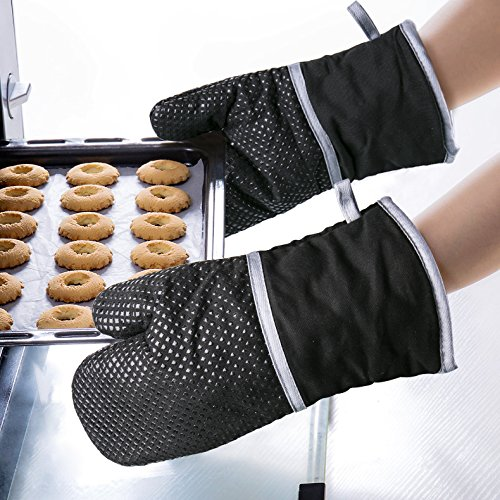 rutschfest Backen Tintec Silikon-Ofenhandschuhe f/ür Grillen Kochen hitzebest/ändig