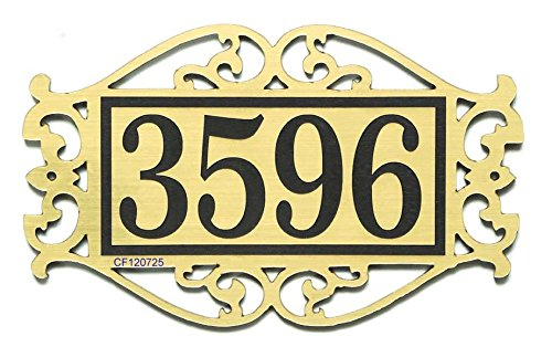 Comfort House House Number Sign - Decorative Scrollwork Address Sign or Room Number Sign - Custom Address Plaque J0018 Small
