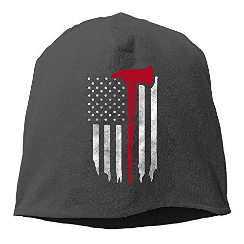 Doormat bikini Firefighter American Flag Women/Men Wool Hat Soft Stretch Beanies Skull Cap Unisex -
