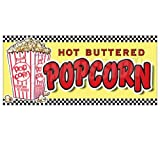 concession menu - Popcorn Concession Decal Stand Trailer cart menu Vendor