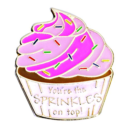 Employee Appreciation Cupcake with Sprinkles Award Lapel Pins, 12 Pins -