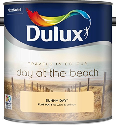 Dulux 500068 2.5 Litre Travels in Colour Flat Matt Paint - Sunny Day by Dulux by AkzoNobel