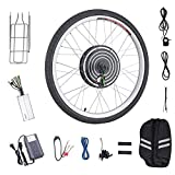 "Pinty FT2000 26""x1.8"" Front Wheel 48V 1000W Ebike Hub Motor Conversion Kit with Dual Mode Controller for Electric Bicycle Bike, Up to 28-30 MPH"