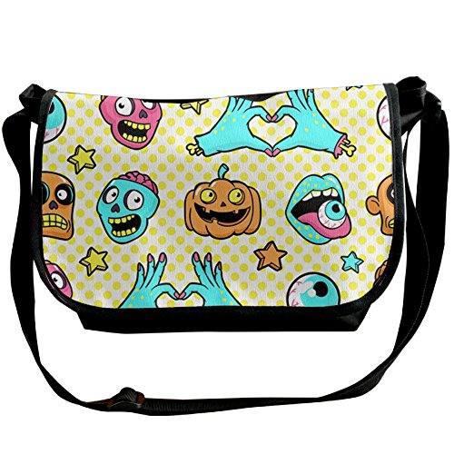 Easy Halloween College Costumes Guys (College Boys Cool Funny Halloween Pumpkin Ghost\r\n Themed Crossbody Messenger Bag Casual Over The Shoulder Bags For Men For School)