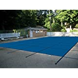 Water Warden Pool Safety Cover for a 14 x 28 Pool, Blue Mesh