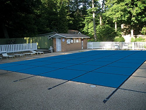 Water Warden SCSB2040CS Pool Safety Cover for 20 by 40-Feet Pool, Blue with Center Step