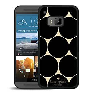 Beautiful DIY Designed Kate Spade Cover Case For HTC ONE M9 Black Phone Case 224