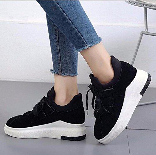 Plus Terciopelo Ocio 5cm Negro Gruesa Khskx Zapatos 37 De La Mujer Coreana Planos estudiante Versión 39 qOXw7U
