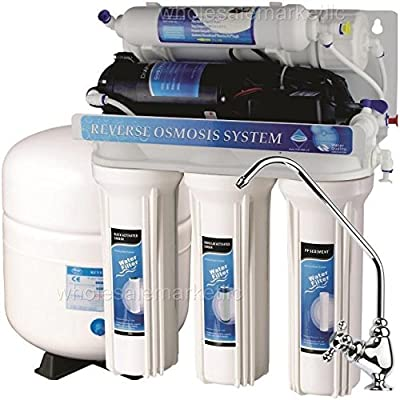 5 Stage Reverse Osmosis with Booster Pump - RO Water Filter System ( 50 GPD )