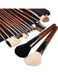 ZOREYA Makeup Brushes Premium High End- 15pc Real Walnut...