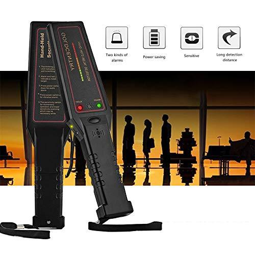 beautygaga GaGa Handheld LED Metal Detector Adjustable Sensitivity Body Scanner Security Check