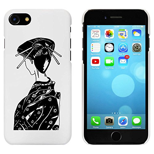 Blanc 'Femme Japonaise' étui / housse pour iPhone 7 (MC00067554)