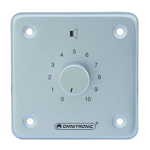 Omnitronic 80711015 ELA Mono LS-Regler (10 Watt) silber