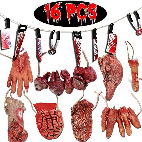 Bloody Body - 16Pcs Halloween Decorations Broken Body Parts