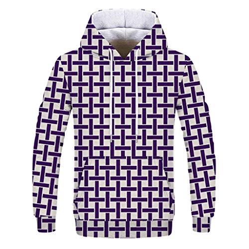 Cinsanong Long Sleeve Tops for Men, Printing Fashion Autumn Winter Sweatshirt Casual Loves Hoodies Loose Blouse ()