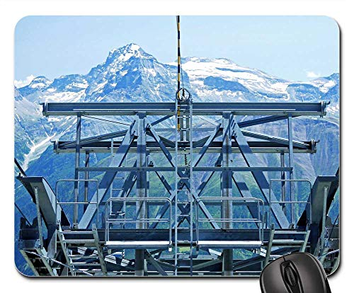 Mouse Pad - Cable Car Mountain Station The Last Mast Eggishorn