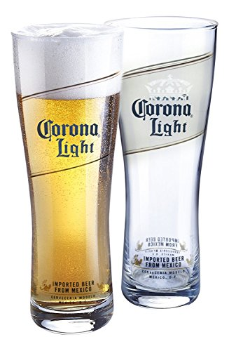 Corona Light Pilsners (Set of 4), - Corona Glasses