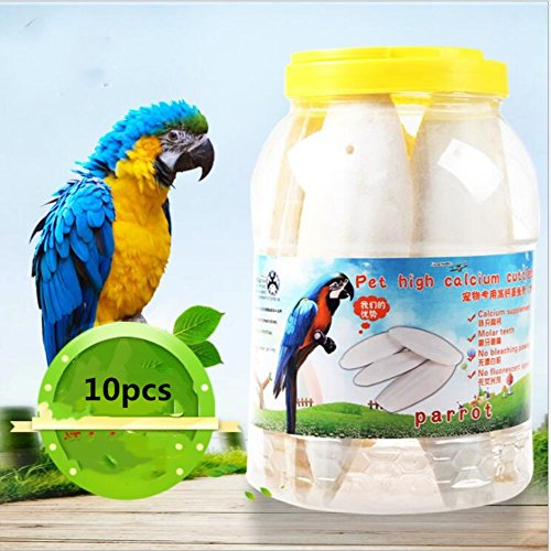 Hamiledyi Pet Chew Toy,Bird Cuttlebone Food(10pcs) by Hamiledyi (Image #5)