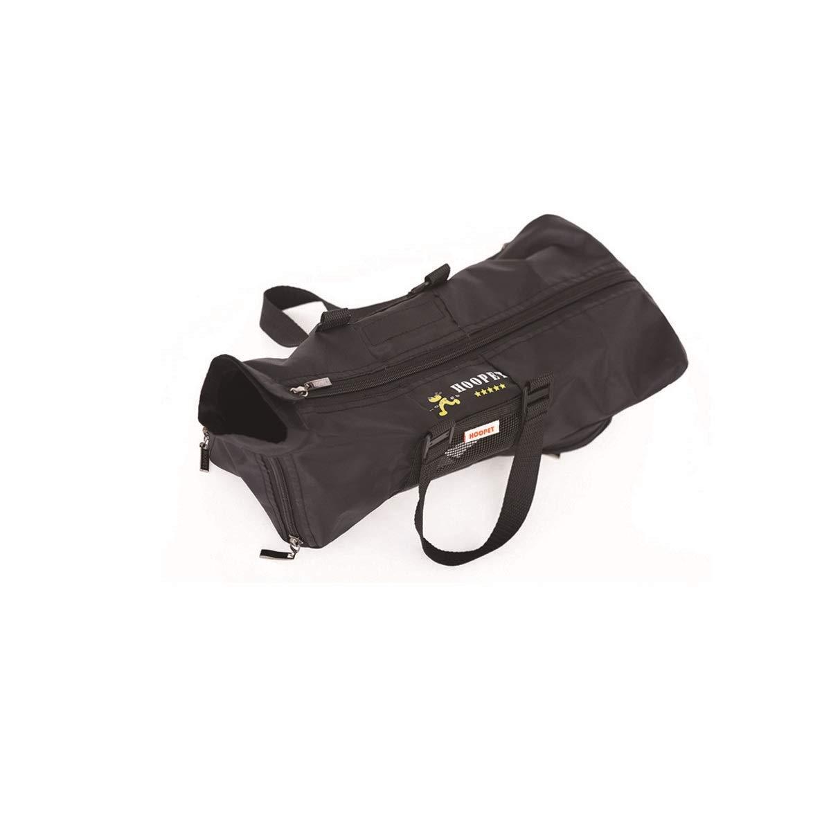 Black L Black L HUIJUNWENTI Pet Carrier, Pet Multi-function Carrier, One-shoulder Cat Carrier, Black (color   Black, Size   L)