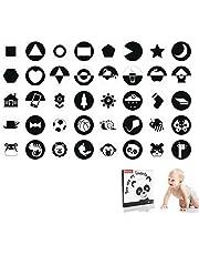 Hoog Contrast Zwart-Wit Baby Flash Kaarten, Kaarten Met Visueel Contrast Voor Baby's En Pasgeborenen, Geschikt Voor Baby's Van 0 Tot 3 Maanden Oud