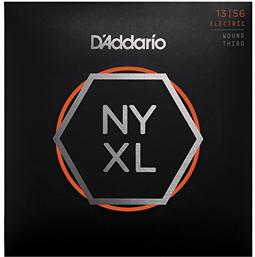 Nickel Wound Medium Electric Guitar (D'Addario NYXL1356W Nickel Wound Electric Guitar Strings, Medium Wound 3rd, 13-56)