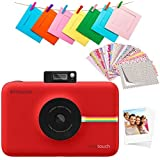 Polaroid Snap Touch 2.0 - 2 x 3 Inch Prints on Sticky-Backed Zink Paper, Portable Instant Digital Camera, 13 MP, Bluetooth, LCD Touchscreen Display - Red