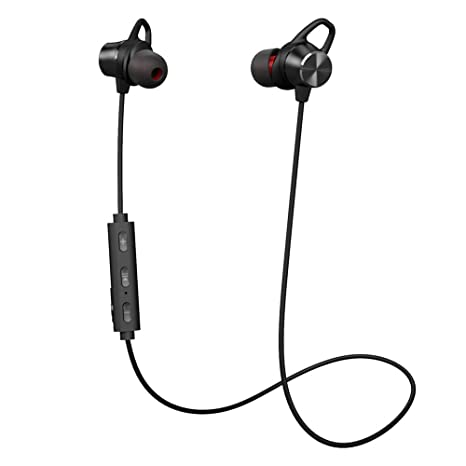 ed9ddb5534e Bluetooth Headphones, GRDE V4.1 Wireless Magnetic Bluetooth Earbuds, Snug  Fit for Sports