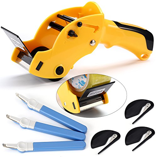 es - Packing Tape Roll Cutter (1) + Stapler Removers (3) + Envelope Cutters (3) ()