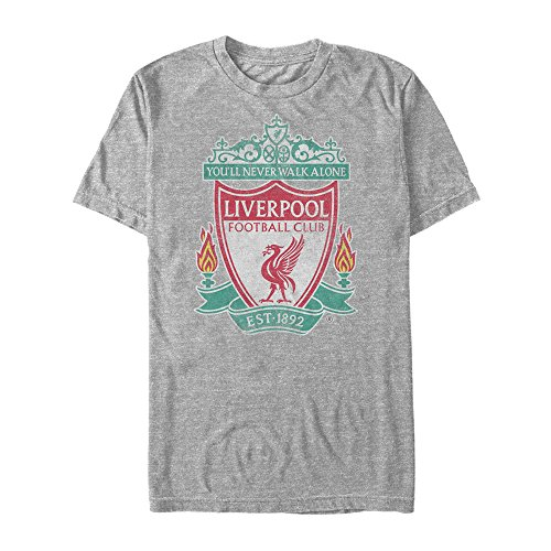 (Fifth Sun Official Liverpool FC Full Color Logo Men's Tee, Gray//Premium Heather xx-Large)
