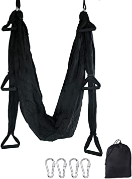 TDRTECH Aerial Yoga Swing, Hanging Yoga Trapeze/Hammock/Sling - Antigravity Inversion Swing for Beginners & Kids