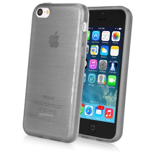 iPhone 5c Case, BoxWave® [GlassWorks Crystal Slip] Glossy, Flexible, Low Profile Case for Apple iPhone 5c - Graphite (Low Profile Iphone 5c Case compare prices)